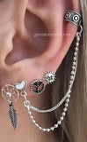 lindas ideas para perforar orejas para chicas - Cute Ear Piercing Ideas for Teen Girls - www.MyBodiArt.com
