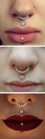 Dainty Septum Piercing Jewelry Small Pretty Fake Tumblr Classy Cute - www.MyBodiArt.com