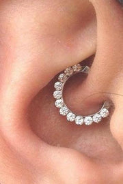 Crystal Daith Ear Piercing Jewelry Ideas Ring Hoop Earring - www.MyBodiArt.com