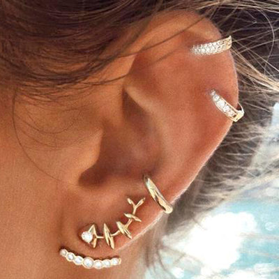 Cute Multiple Ear Piercing Jewelry Ideas for Women Fish Ear Climber Earring Ear Cuff for Cartilage Helix - www.MyBodiArt.com