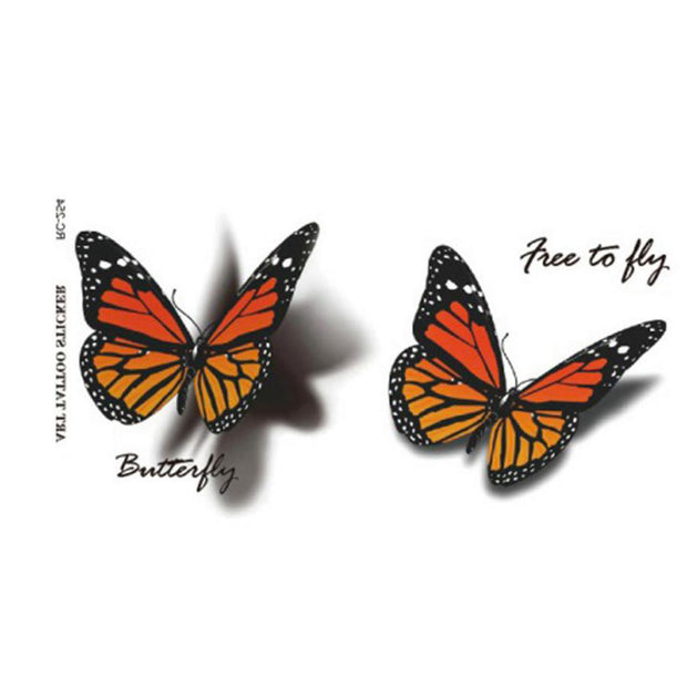Cute Small Watercolor 3D Butterfly Temporary Tattoo Ideas for Women - www.MyBodiArt.com