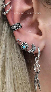 Cassandra Ear Cuff & Earring 7 Piece Set