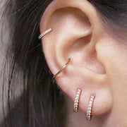 Cute Hoop All The Way Around Cartilage Helix Ear Piercing Jewelry Ideas - www.MyBodiArt.com