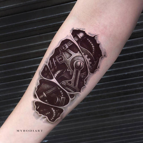 Cool Robot Forearm Arm Sleeve Tattoo Ideas for Women ...