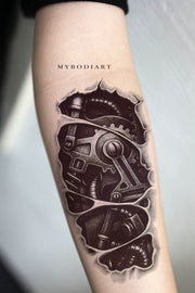 Cool Robot Forearm Arm Sleeve Tattoo Ideas for Women -  Ideas de tatuaje de antebrazo robot para mujeres - www.MyBodiArt.com
