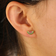 Cute Crystal Watermelon Earrings Stud - www.MyBodiArt.com #earrings