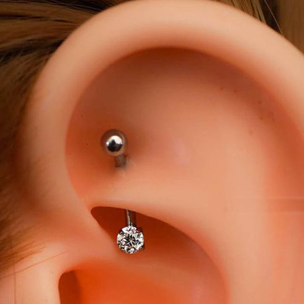 Simple Minimalist Rook Ear Piercing Jewelry Ideas for Women -  ideas de piercing de oreja - www.MyBodiArt.com