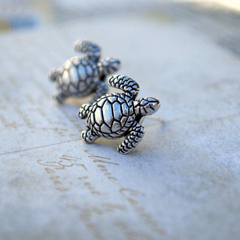 Womens Turtle Earrings at MyBodiArt.com