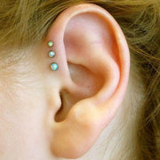 Triple Opal Forward Helix Ear Piercing Jewelry Ideas for Women - www.MyBodiArt.com
