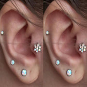 Multiple Ear Piercing Ideas Jewelry - Dazzle Opal Earring Studs - for Cartilage, Helix, Tragus, Constellation at MyBodiArt.com