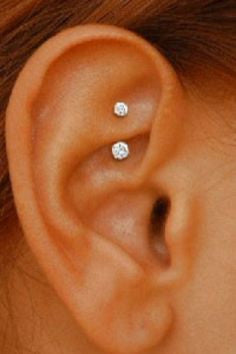 Swarovski Crystal Curved Barbell for Rook Earring, Daith Piercing Jewelry