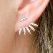 Spiked Starburst Earring Jacket Womens at MyBodiArt.com