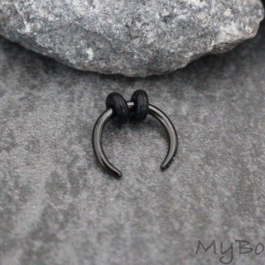 Black Septum Pincher Ring at MyBodiArt.com