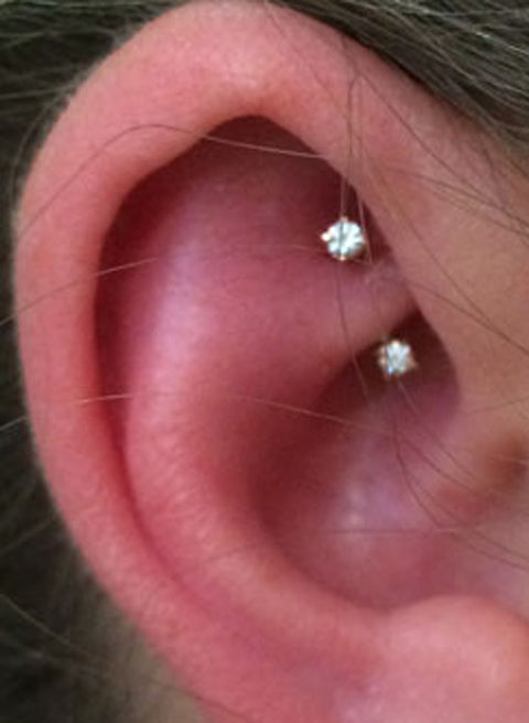 Cute Ear Piercing Ideas - Rook Piercing Jewelry at MyBodiArt.com