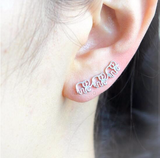 Lucy Elephant Ear Climber Earring - Animal Ear Crawler at MyBodiArt.com
