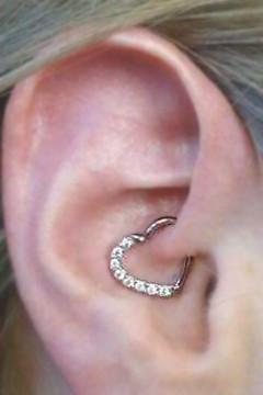 Heart Ear Piercing Jewelry at MyBodiArt.com for Cartilage Helix Rook Daith Conch