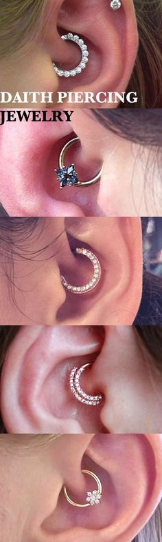 Cute Simple Daith Ring Hoop Earring 16G Ear Piercing Jewelry Ideas for Women -  ideas de joyería piercing de oreja - www.MyBodiArt.com #piercings #earrings