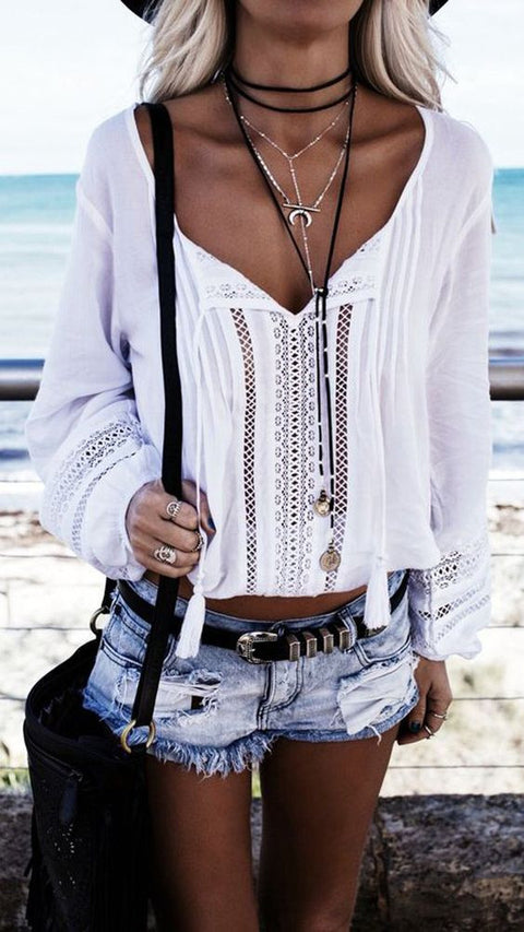 Cute Teen Outfits for Summer 2017 - Bohemian Boho Indie Grunge Hippie - Meadow Medallion Coin Suede Wrap Choker Necklace at MyBodiArt.com