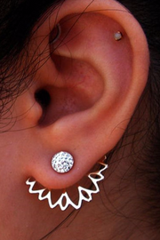 Cute Ear Piercing Ideas for Teenagers - Flower Ear Jacket Earring Small Cartilage Stud - pendiente de flores - www.MyBodiArt.com