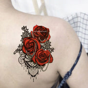 Cool Gothic Shoulder Rose Lace Chandelier Shoulder Tattoo Ideas for Women -  Ideas de tatuaje de hombro rosa para mujeres - www.MyBodiArt.com