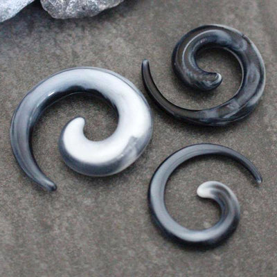 Horn Gauges, Spiral Ear Gauges, Marble Ear Plugs, Acrylic Flesh Plugs, Tribal Organic Gauges, Punk Flesh Tunnels, Gothic Ear Stretchers