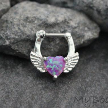 Tappy Heart Clicker in Pink Opal