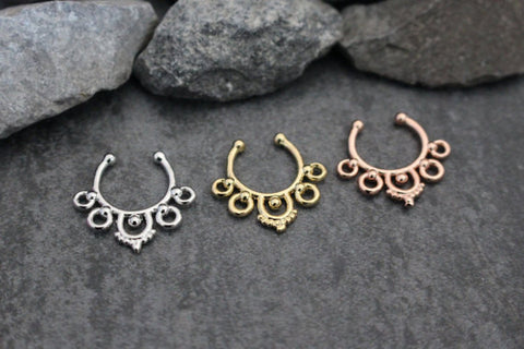 Tribal Fake Septum Ring