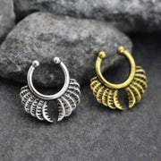 Tribal Leaf Septum Adornment