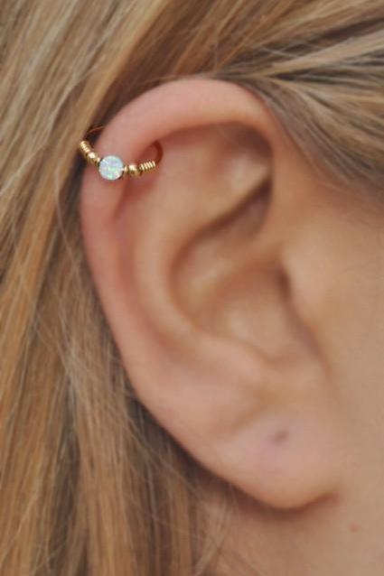 Simple & Cute Ear Piercing Ideas Helix, Cartilage, Tragus, Rook, Daith, Conch Piercing Jewelry Earrings Jewellery Rings at MyBodiArt.com