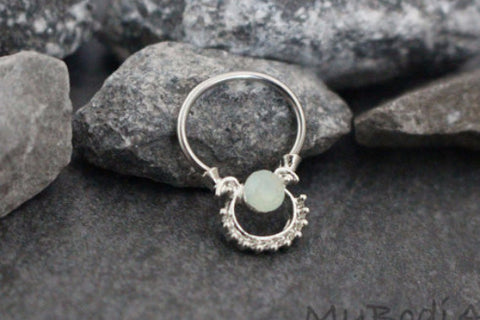 Opal Opaque Septum Piercing