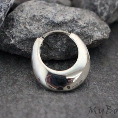 Silver Septum Ring, Daith Piercing Jewelry, Rook Earring in 16G Silver