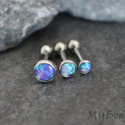 Opal Cartilage Earring, Helix Earring, Tragus Piercing, Cartilage Stud, Helix Piercing, Tragus Earring, Conch Earring, Conch Stud, Triple Helix, Forward Helix