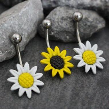 Sunflower Belly Button Ring