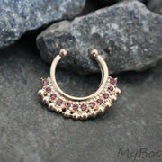 Bold Rose Gold Fake Septum Ring