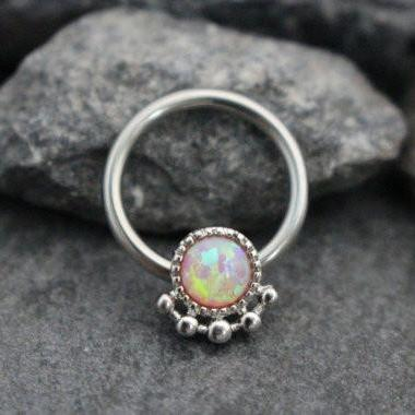 Pink Opal Body Piercing Jewelry