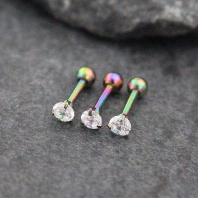 Rainbow 16G Straight Barbell