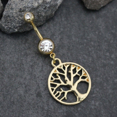 Tree of Life Navel Ring