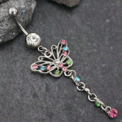 Mira Butterfly Navel Ring