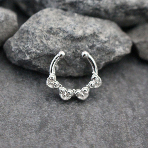 Silver Fake Septum Piercing