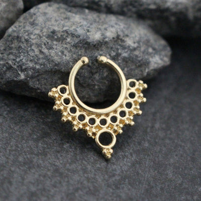 Rose Gold Fake Septum Ring, Tribal Septum Jewelry, Faux Septum Piercing, Septum Jewellery