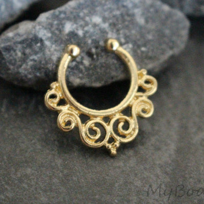 Gold Septum Jewelry