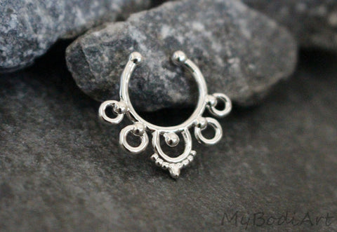 Silver Septum Jewelry
