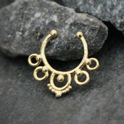 Gold Fake Septum Piercing