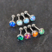 Tragus Opal, Tragus Earring 16 Gauge, Cartilage Earring Stud, Cartilage Stud, Conch Piercing Jewelry, Rook Piercing, Helix Piercing