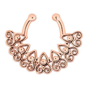 Rose Gold Fake Septum