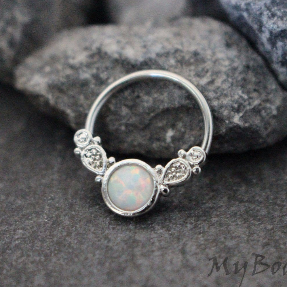 Septum Ring Opal Opal Septum Jewelry Opalite Nipple
