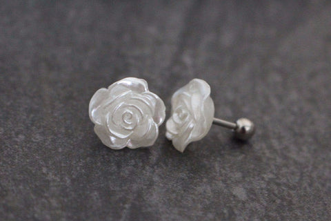 Rose Cartilage Piercing, Cartilage Earing, Tragus Bar, Tragus Jewelry, Conch Jewelry, Conch Piercing, Rook Ring,Rook Barbell,Helix Jewellery