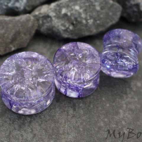 Purple Stone Ear Plugs, Stone Tunnels, Glass Ear Plugs, Flesh Tunnels, Ear Gauges, Tunnel Plugs, Ear Stretchers, Flesh Plugs, Tunnel Piercing