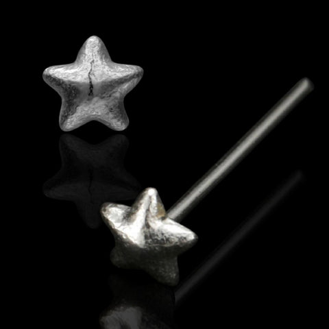 Star Nose Stud in Silver