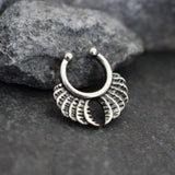 Tribal Leaf Fake Septum Ring, Faux Septum Piercing, Septum Jewelry, Septum Jewellery, Septum Clip On